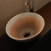 信楽焼の手洗ボウル