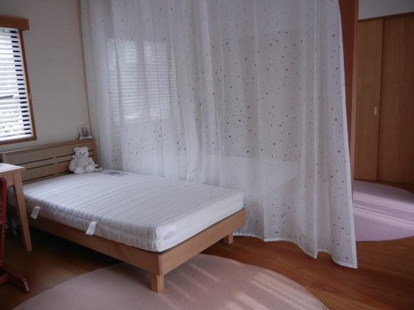 カーテン工事・家具の設置完了です。